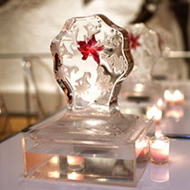 event decor ice centerpiece